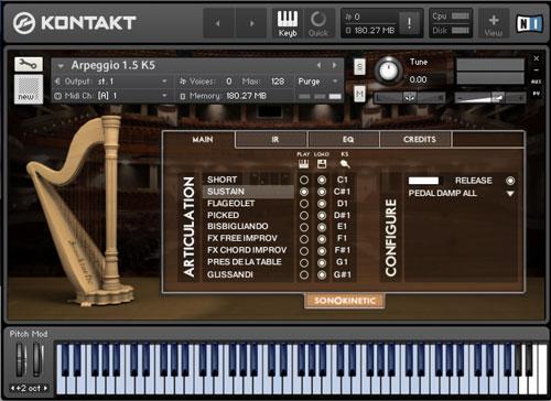 Arpeggio - Sonokinetic - Sample libraries and Virtual Instruments