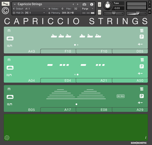 Capriccio Interface