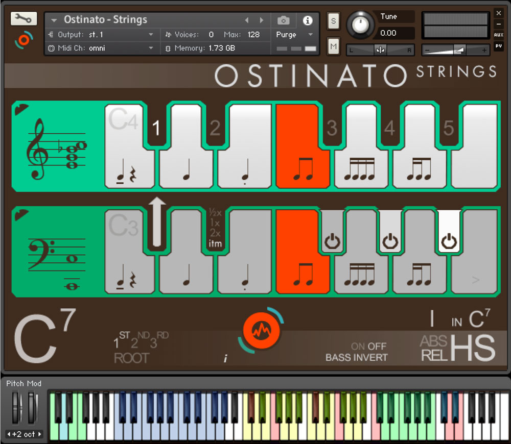 Ostinato Strings GUI