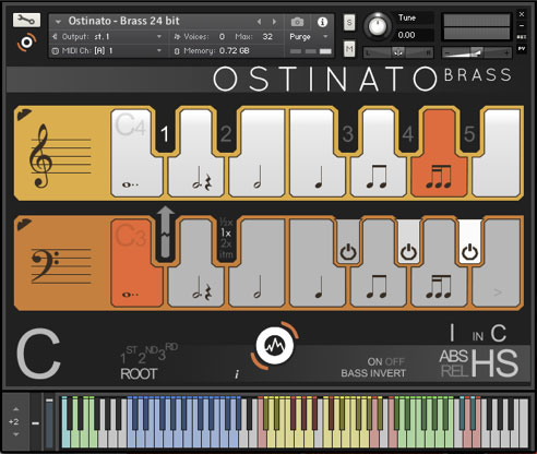 Ostinato Brass GUI