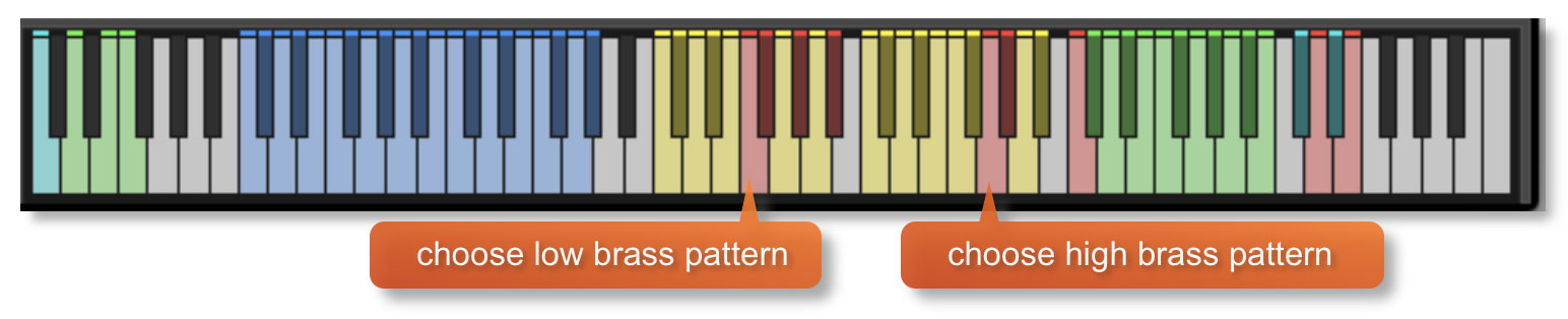 Ostinato Brass Preset Patterns