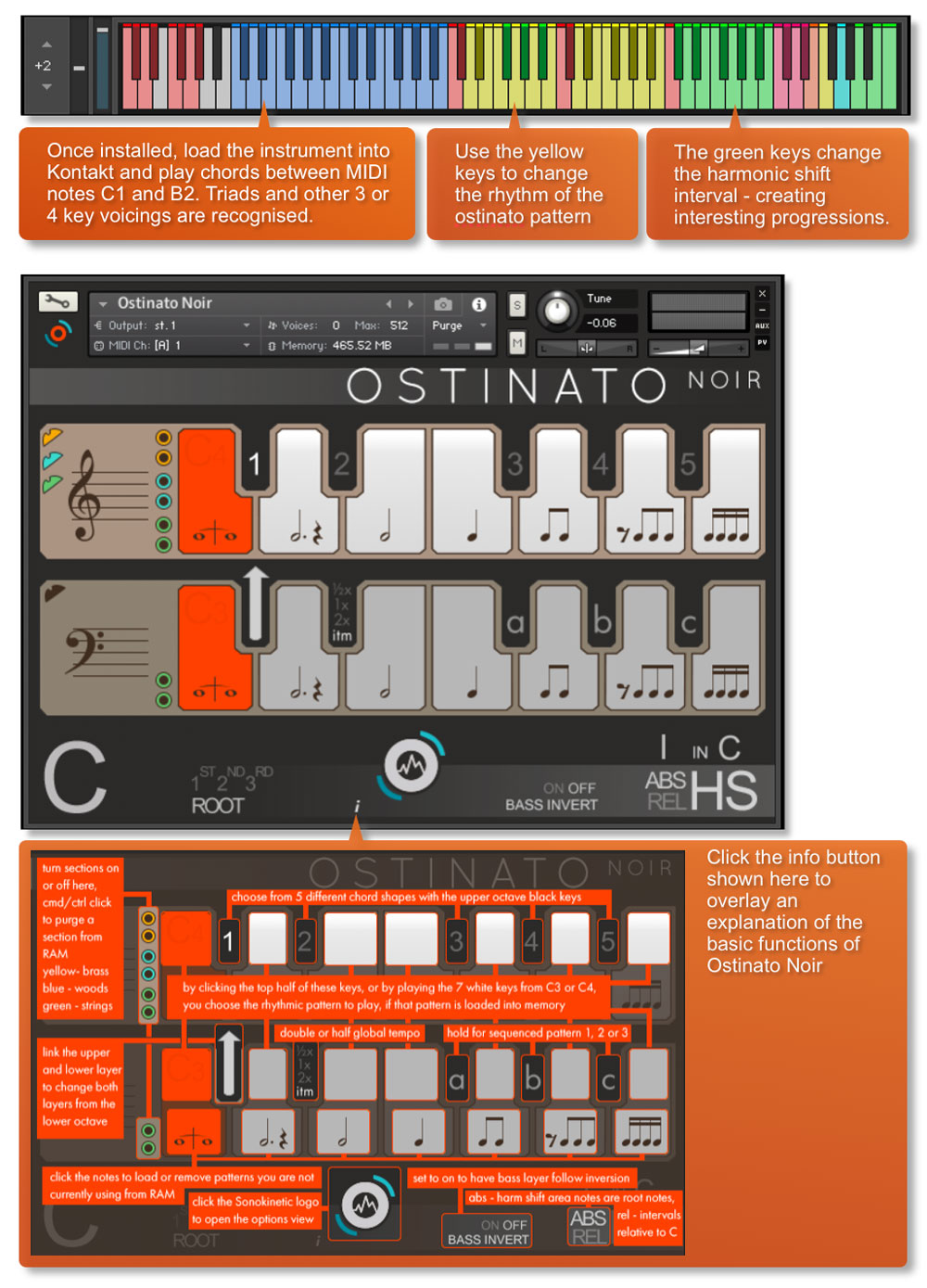 Sonokinetic Ostinato Noir Quick Start