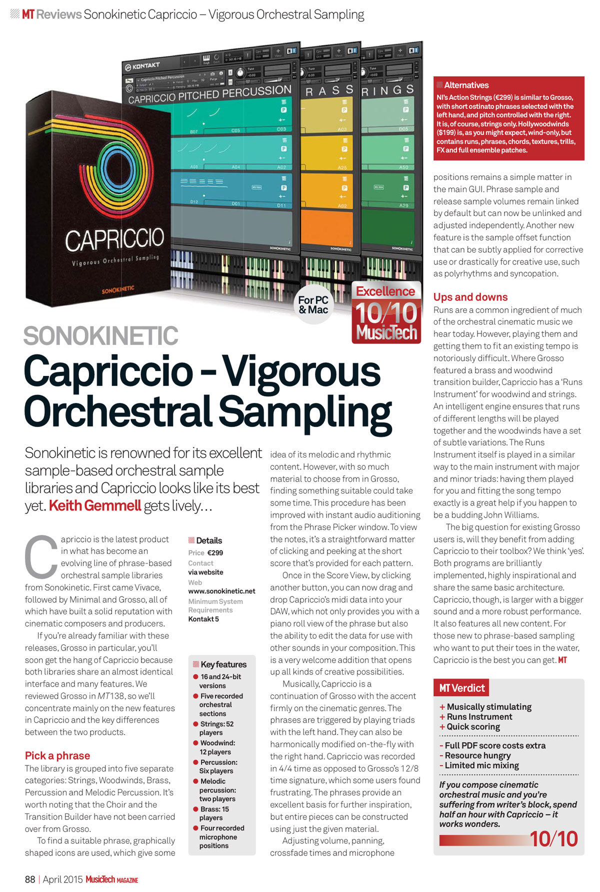 Capriccio Review in MusicTech Magazine