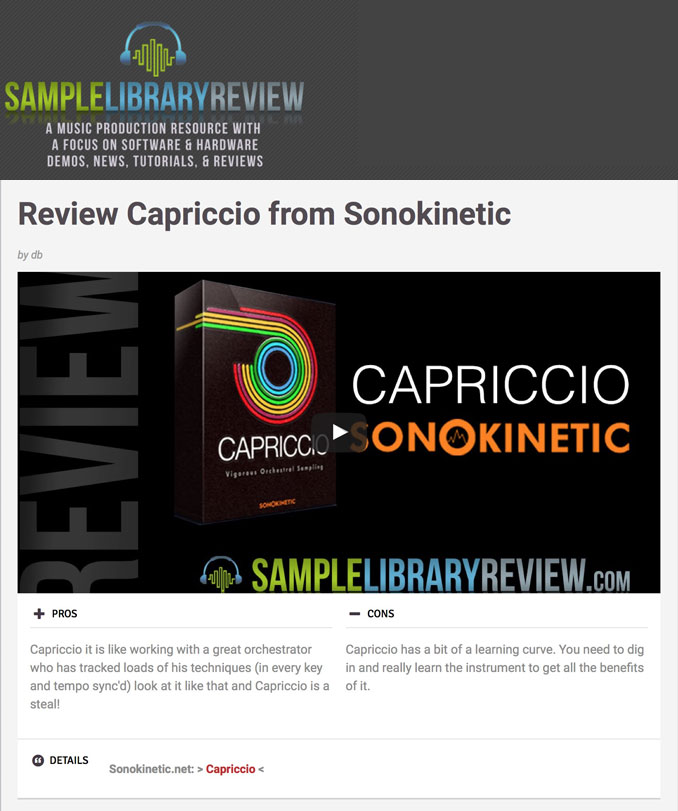 Capriccio Review by Sample Library Review