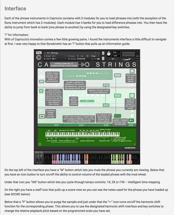 Capriccio - Sonokinetic - Sample libraries and Virtual Instruments