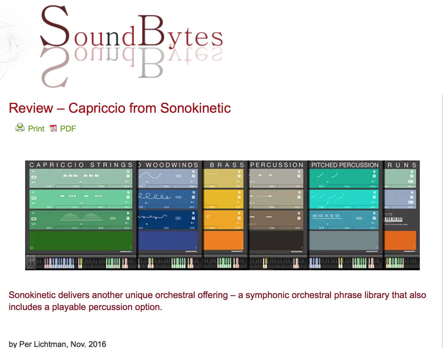 Capriccio Review by SoundBytes