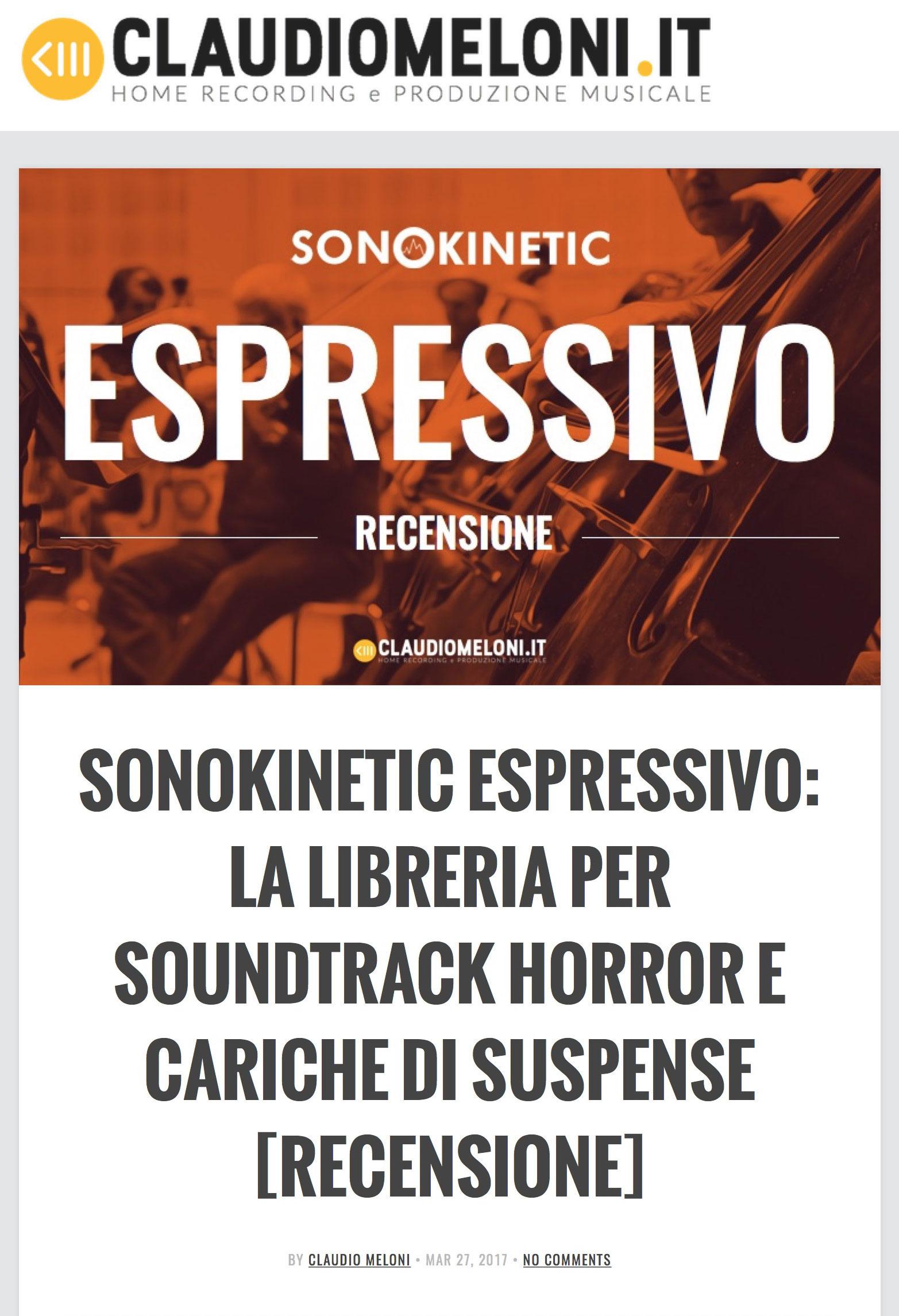 Espressivo Review by claudiomeloni