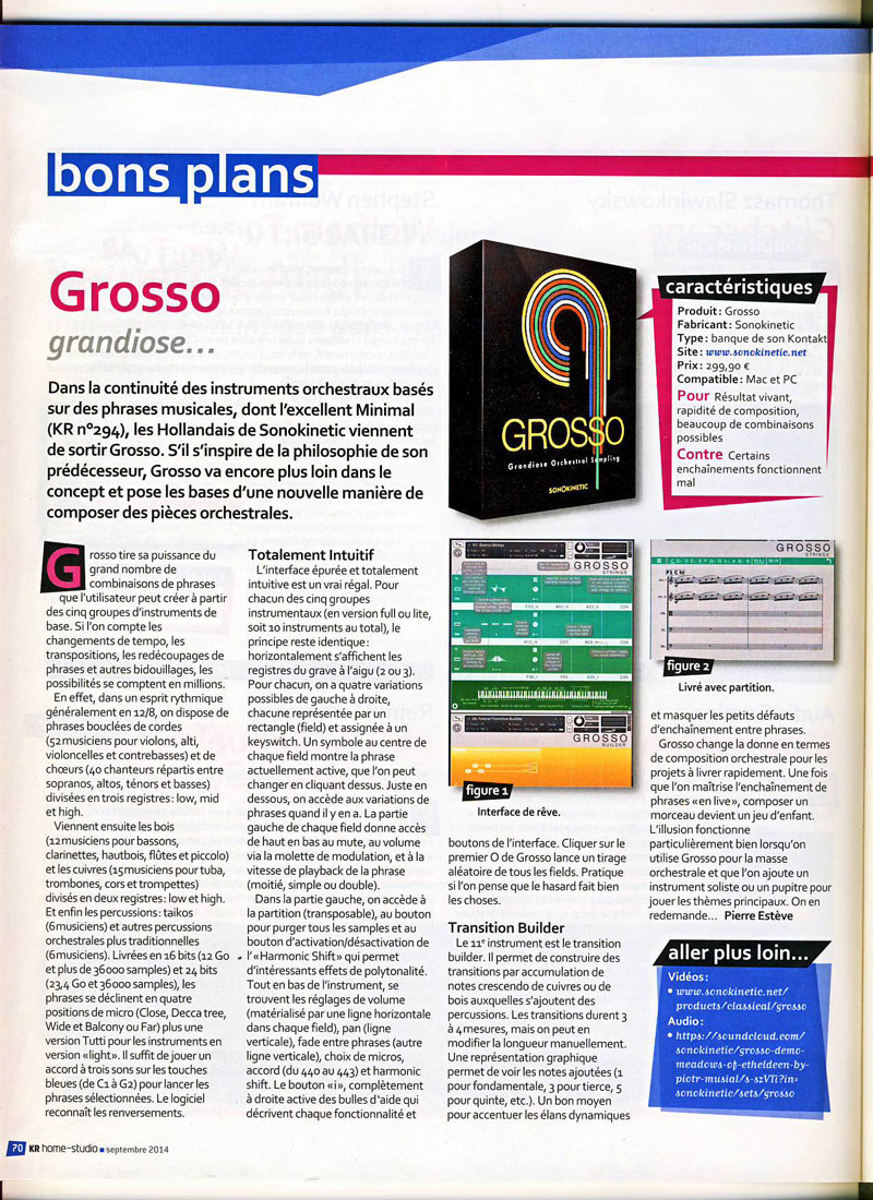 Grosso Review in KR Home Studio Magazine