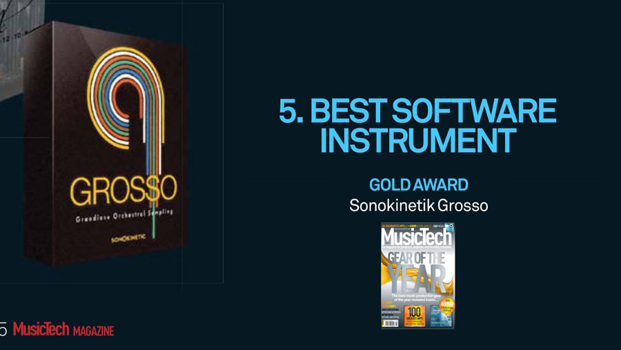 Grosso receives Gold Award from MusicTech Magazine