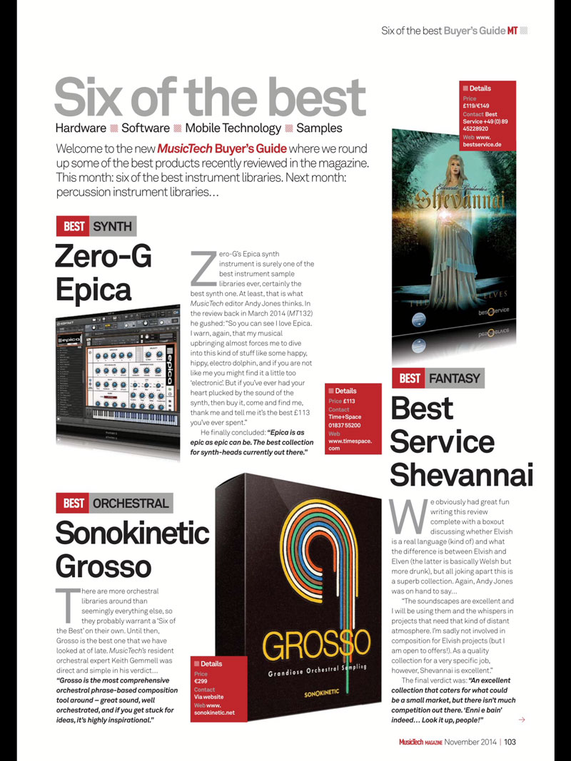 Grosso Review in MusicTech Magazine