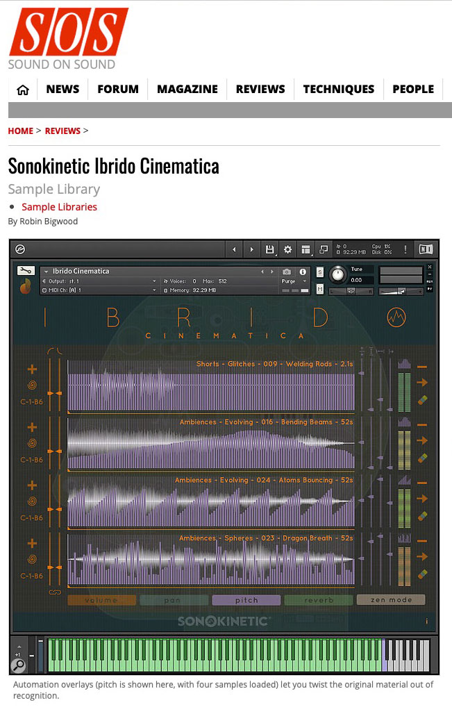 Ibrido Cinematica Review by Sound on Sound