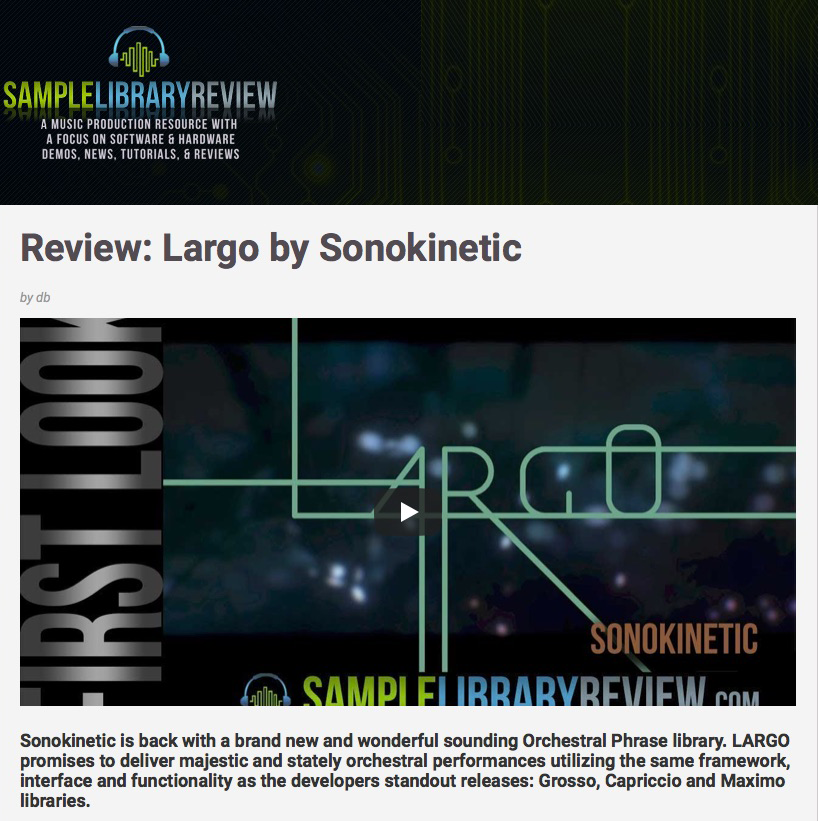 Largo - Sonokinetic - Sample libraries and Virtual Instruments