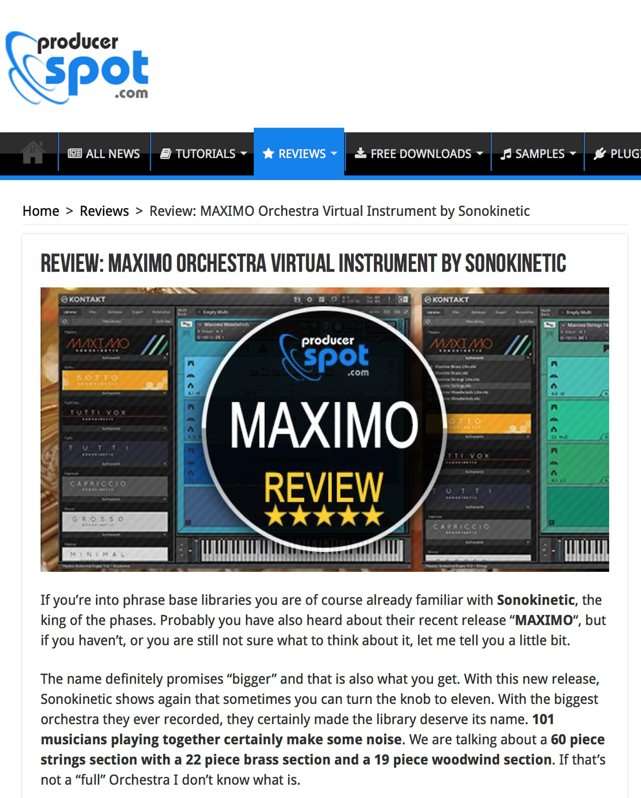 Maxmo Review by Producer Spot