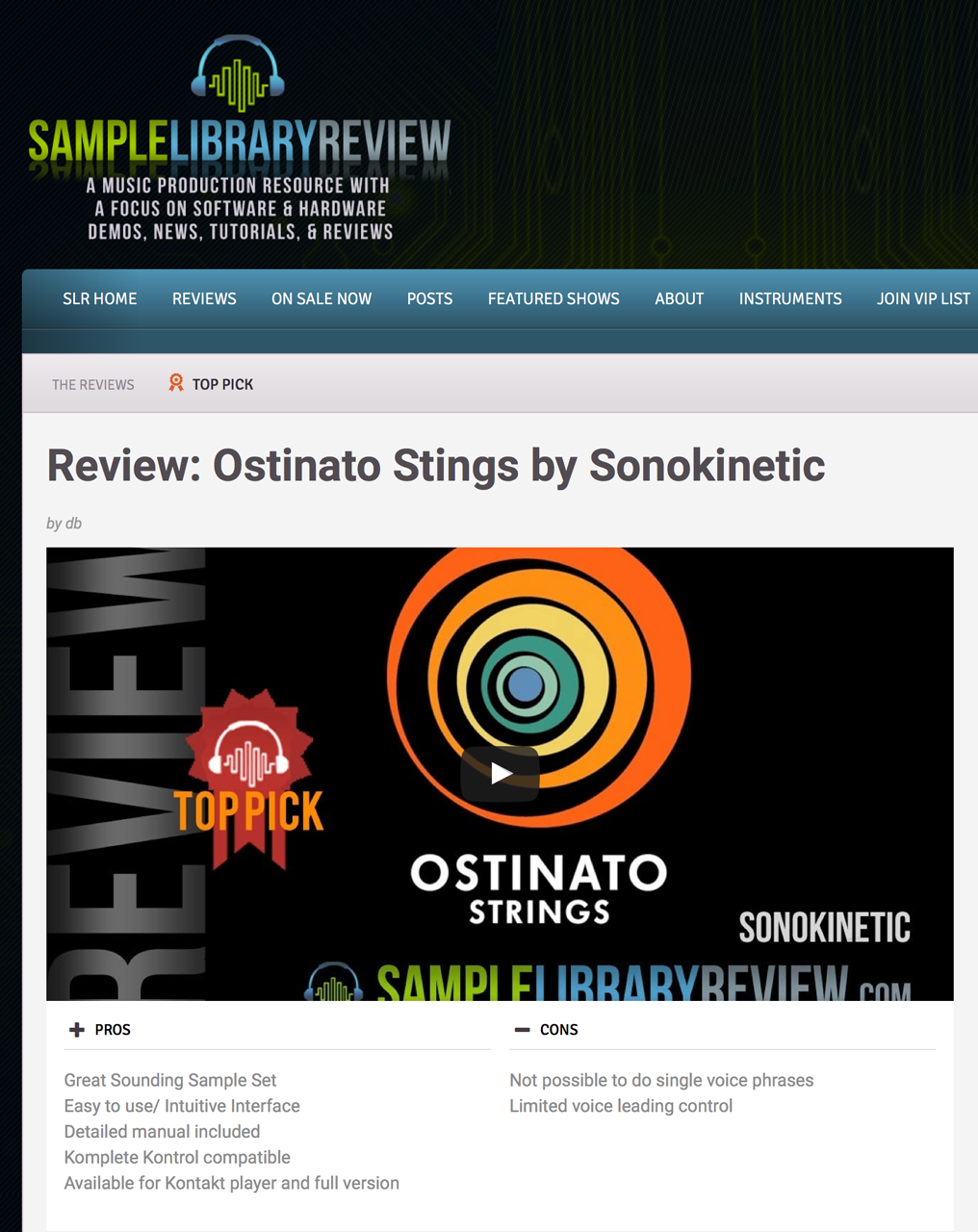 Ostinato Strings Review by Sample Library Review