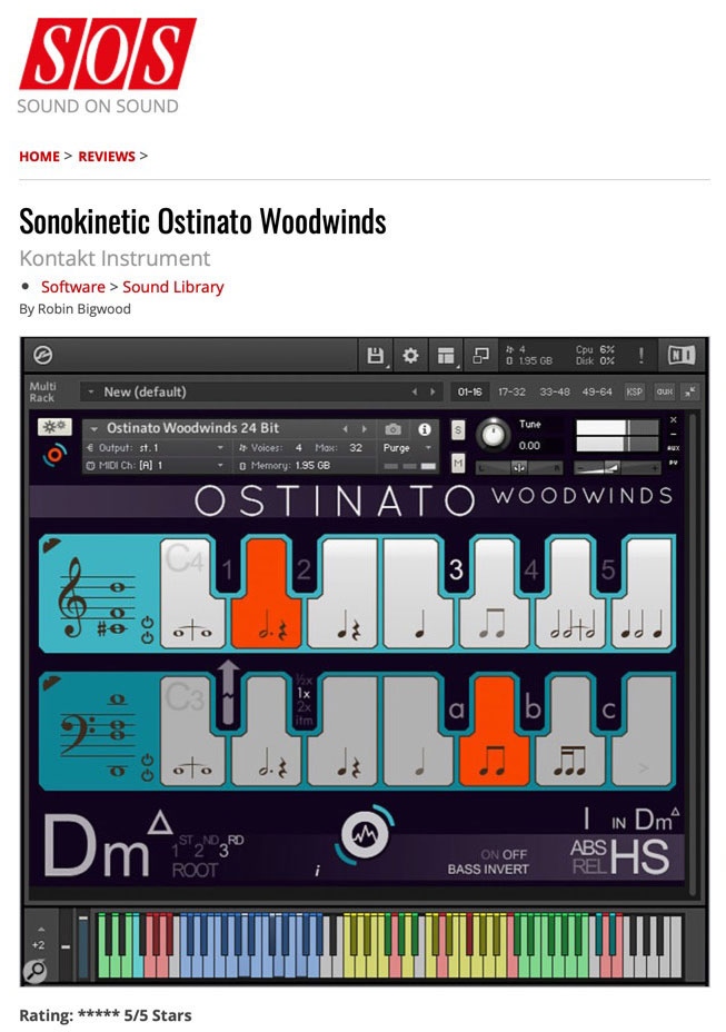 Ostinato Woodwinds Review by Sound on Sound
