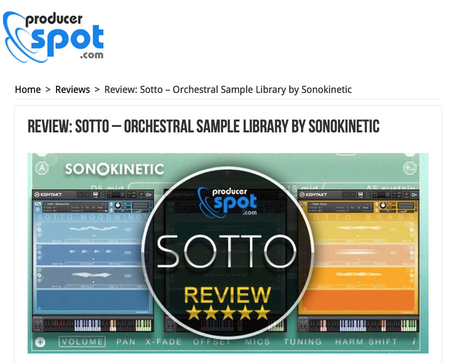 Sotto - Sonokinetic - Sample libraries and Virtual Instruments