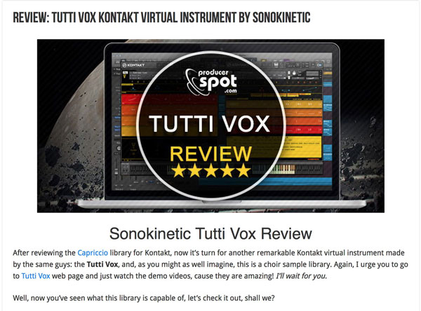 Tutti Vox Review by Producer Spot