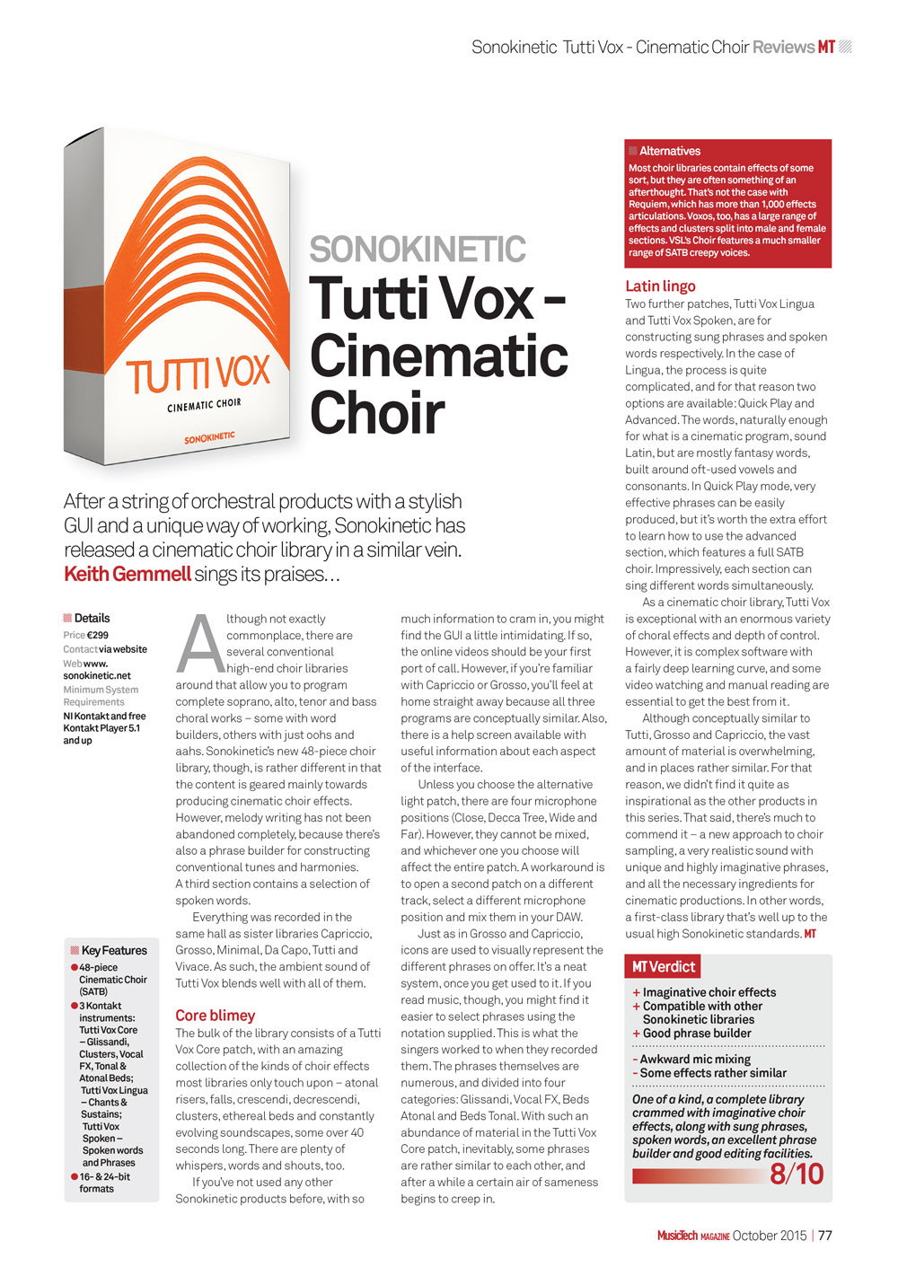 Tutti Vox Review by MusicTech
