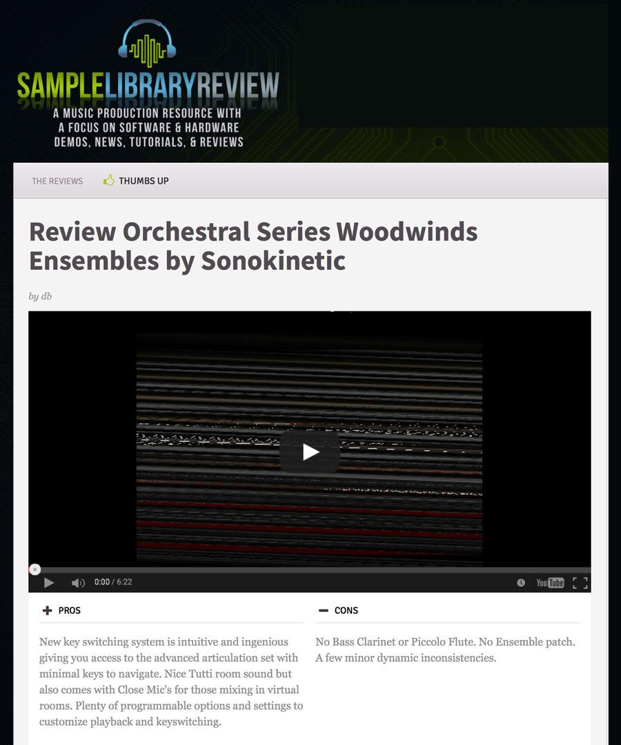 Reviews - Sonokinetic - Sample libraries and Virtual Instruments
