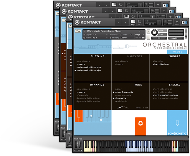 Sonokinetic Woodwinds GUI