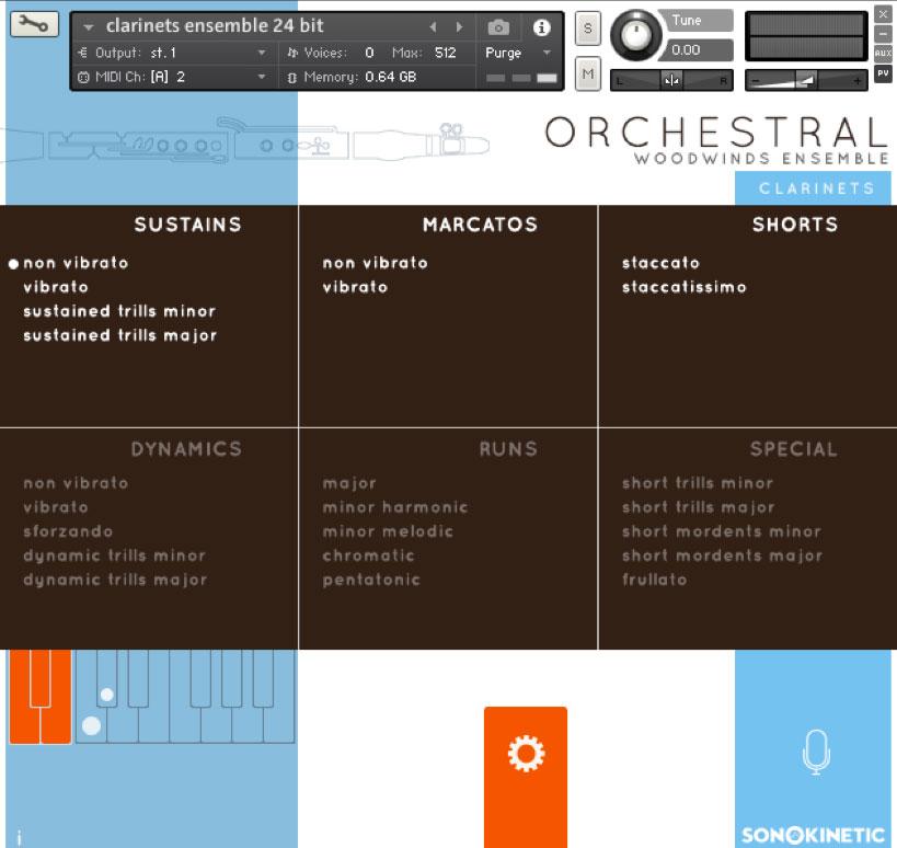 Woodwinds Ensembles GUI