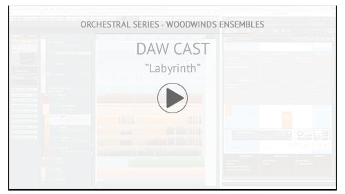 "Video Tutorial: Woodwinds Ensembles DAW CAST:  ""Labyrinth"""